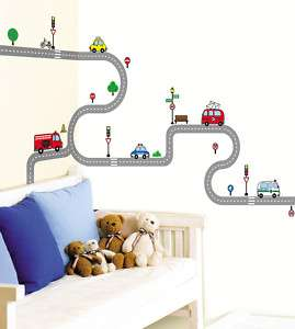 Road KIDS Wall Decor STICKER Removable Adhesive Decal