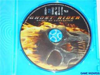 Ghost Rider Spirit of Vengeance (Blu ray + CASE) *See Details* Unused
