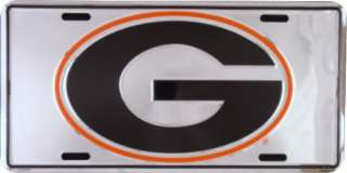 Georgia Bulldogs Mirror Finish Metal License Plate Tag