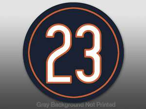 Round 23 Devin Hester Sticker  decal like Chicago Bears