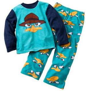 PHINEAS and & FERB PERRY AGENT P Pajamas pjs Shirt Pants 4 6 8 10