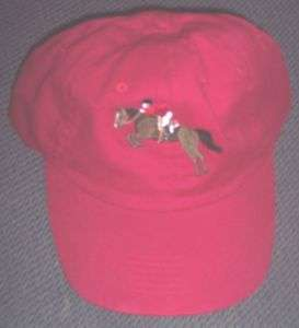 NWT Jumping Horse Riding Red Ball Cap Hat