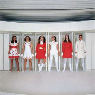 Models Wearing Fashions Designed by Andre Courreges Photographic Print