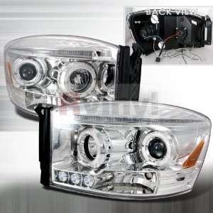 Dodge Ram 2006 2007 2008 LED Halo Projector Headlights
