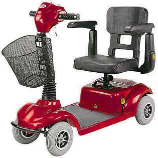 New CTM HS 290 4 Wheel Micro Mobility Power Scooter Red