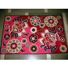 MDS Crewel Rug Dramatic Pink Chain Stitched Wool Rug (8X10FT)