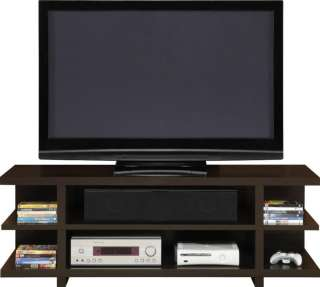 New 60 Open Flat Screen TV Stand   Brown (Espresso)