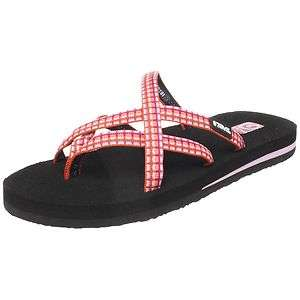 45fb80f33877e Teva Womens Olowahu Mush Flip Flop Pink Plaid on PopScreen