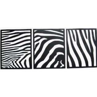 Wall Decor Plus More Black Zebra Square Wall Sticker Vinyl Decal Kids