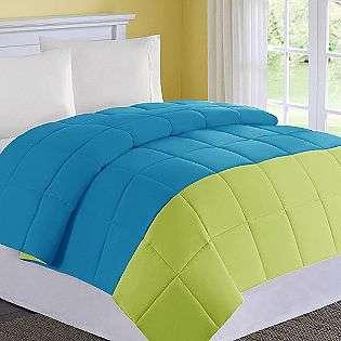 Comfort Classics Colorblock Microfiber Down Alternative Comforter Full