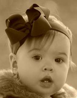 Navy Blue Hair Bow Headband Girls Baby Boutique Puffy
