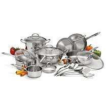 Wolfgang Puck Stainless Steel Cookware Set   18 pc.