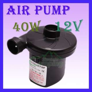 Air Pump 40W 12V Inflate Deflate Multi function Quick fill Electric