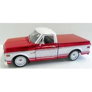 1972 Chevy Cheyenne Two Tone Color in RED and White Toys & Games