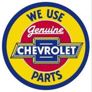 Metal   Tin Sign CHEVROLET GENUINE PARTS Round Dealer Sign