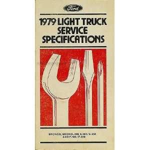 com 1979 Ford Truck Service Specs Manual Original Bronco Pickup F100
