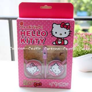 Hello Kitty Laptop Headset Earphone Headphone Pink