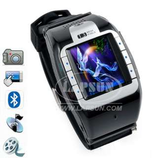 Wrist Watch Mobile Cell Phone DVR Hidden Camera Quad Band N388 Silvery