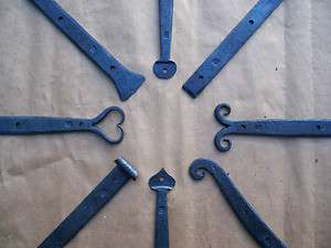 Forged Wrought Iron Strap Hinges and Pintles 5 Sizes Available