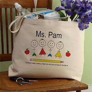 PersonalizationMall Personalized Inspiring Teacher Canvas Tote Bag