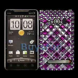 New Bling Diamond Hard Cover Case Skin For HTC EVO 4G