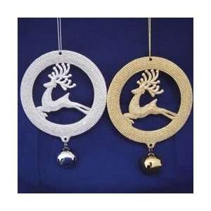 Club Pack of 24 Plastic Gold & SIlver Reindeer Christmas