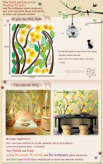 CP 049 YELLOW FLOWER WALL ART DECOR MURAL DECO STICKER