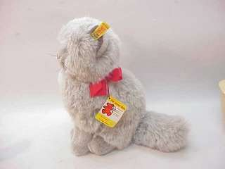STEIFF MINKA PERSIAN CAT PLUSH KITTY w EAR TAG ALL IDs