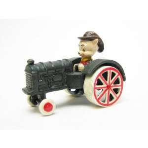 Farmer Pig Replica Cast Iron Farm Toy Tractor: Home & Kitchen
