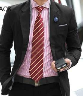 Korean Fashion Mens Casual Slim Fit Suit Coat Blazer Jacket 2 Colors