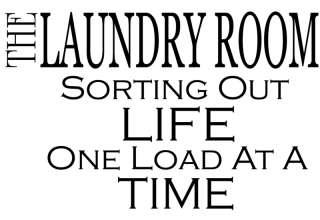 The Laundry Room Vinyl Decal Sticker Wall Decor **