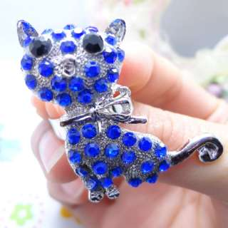 Multi Color Owl Dog Cat Spider Elephant Animal Rhinestone Fashion