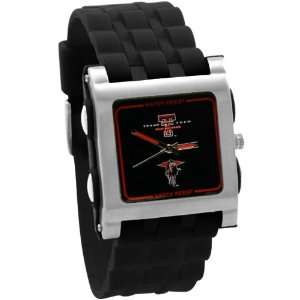 Texas Tech Red Raiders Black Mens Square Stainless Steel