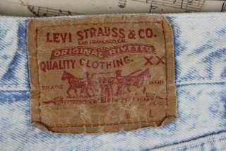 Acid Wash Levis Womens Jeans High Waist Peg Leg Button Fly S
