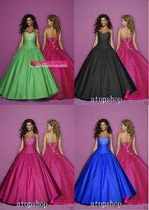 Stock Red Hot Pink/Purple/Royal Blue 2012 Ball Prom Dresses Size6 8