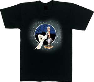 SAILOR GIRL US Navy Vintage Pin Up Girl Graphic T SHIRT