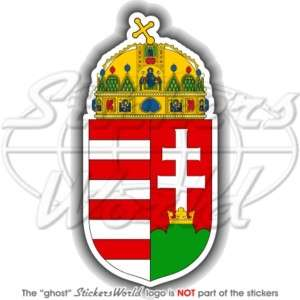 HUNGARY Hungarian Coat of Arms MAGYAR 4,5(115mm) Vinyl Bumper Sticker