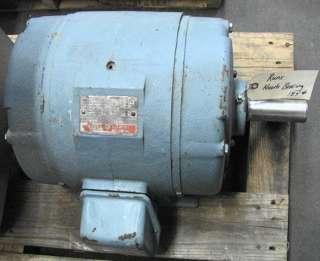 General electric kinamatic 15 hp dc shunt motor cd259at for Us electric motor serial number lookup