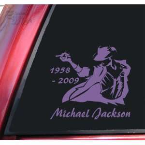 Michael Jackson 1958   2009 Vinyl Decal Sticker   Lavender