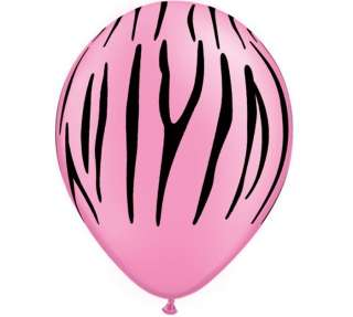Pink Zebra Balloon Birthday Bridal Baby Shower Safari Jungle Zoo Latex