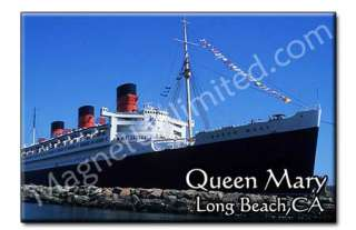 Queen Mary   Long Beach California Souvenir Magnet