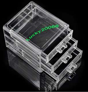 Drawers Jewelry Cosmetic Organizer Case Chest Storage Cube#05 Gift