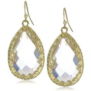 RAIN Tear Drop Clear Crystal Earrings