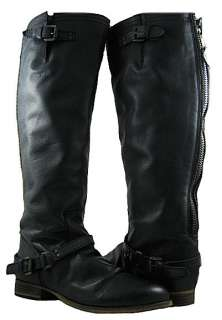 NEW Steve Madden Womens Rovvee Black Leat High Boots US Sizes