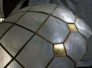 VINTAGE CAPIZ SHELL CHANDELIER CEILING LAMP PANTON EAMES ERA FIXTURE