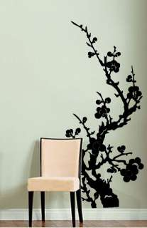 Vinyl Wall Decal Sticker Japanese Asian Flower 46x21