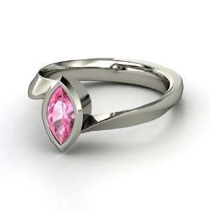 Magic Marquise Ring, Marquise Pink Sapphire Platinum Ring Jewelry
