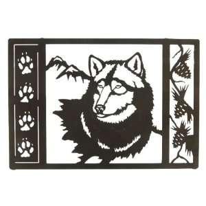 20 Wolf Tracks (Framed) Metal Wall Art: Home & Kitchen