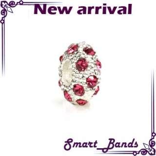 Crystal stone silver European for bracelet pendant beads charms X mas