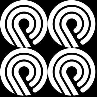 PACK OF 4 Powell skate logo Decal/Sticker skateboarding